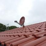 Später wird noch eine Wetterstation für die Haussteuerung an dem Mast montiert