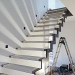 Beginn der Treppenmontage